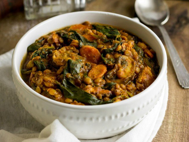Savory Lentil and Spinach Stew