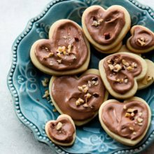 Soft Cream Cheese Cookies with Nutella Glaze