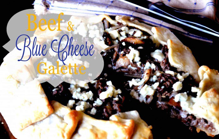 Beef and Blue Cheese Galette