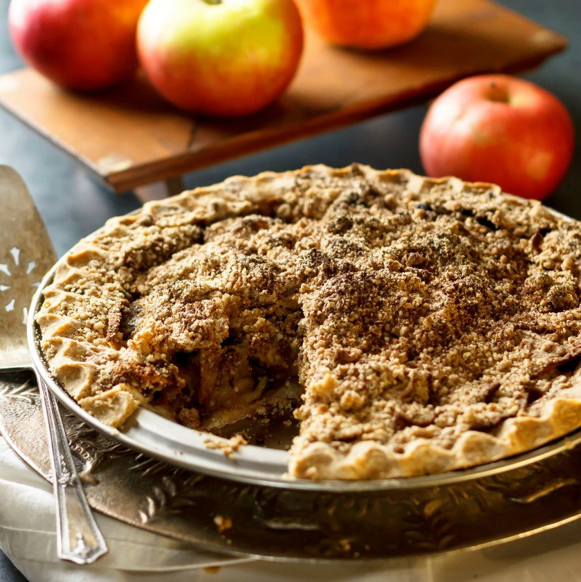 Dairy and Gluten Free Apple Crumble Pie
