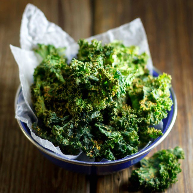 Indian Spiced Baked Kale Chips Recipe