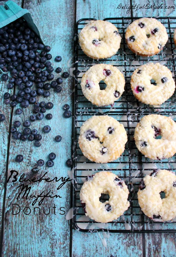 Blueberry Muffin Donuts and Gift Basket